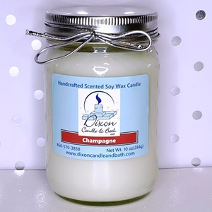 Champagne Scented Soy Wax Candle