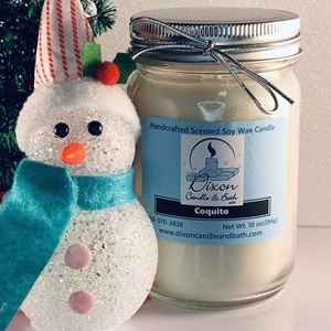 Coquito Scented Soy Wax Candle rum on the rocks, soy wax candle, scented candles, candle, coquito scented candle