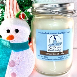 Gingerbread Cafe Scented Soy Wax Candle gingerbread candle, gingerbread cafe candle, gingerbread candle scent, gingerbread scented candles, holiday candle, coffee scented candle, soy candle, scented candles, scented candle, scented soy candle, soy wax candle, scented soy wax candle